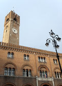 Treviso (Veneto, Italy) - Historic palace with tower — Stok fotoğraf