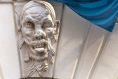 Brescia (Lombardy, Italy), Historic building, detail: grotesque — Stock Photo