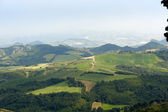 Landscape in Emilia Romagna (Italy) from Sogliano at summer — Stock Photo