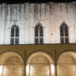 Ascoli Piceno (Marches, Italy): Cloister of ancient church by ni — Foto Stock