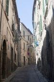 амелия (терни, умбрия, италия) - старая улица — Стоковое фото