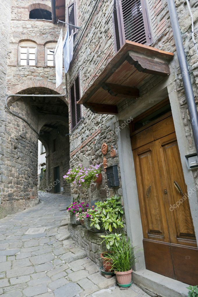 San Quirico (Svizzera Pesciatina, Pistoia Tuscany, Italy) - Typical old village  Stock Photo #6952281