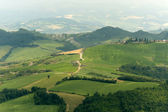 Landscape in Emilia Romagna (Italy) from Sogliano at summer — Foto de Stock