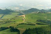 Landscape in Emilia Romagna (Italy) from Sogliano at summer — Foto Stock