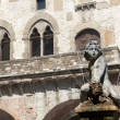 Prato (Tuscany), Palazzo Pretorio and fountain — Stock Photo #7006066