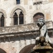 Stock Photo: Prato (Tuscany), Palazzo Pretorio and fountain