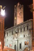 Ascoli Piceno (Marches, Italy): Historic palace at night — Stock Photo