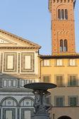 Empoli (Florence), church and fountain — Stock Photo