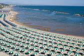 Termoli (campobasso, molise, włochy) - plaża rano — Zdjęcie stockowe