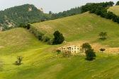 Landscape in Emilia-Romagna (Italy) at summer — Stock Photo