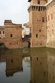 Ferrara (Emilia-Romagna, Italy) - The medieval castle — Stock Photo