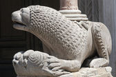 Fidenza (Parma, Emilia-Romagna, Italy) - Cathedral, statue — ストック写真
