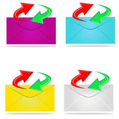 Sending mail — Stock Vector