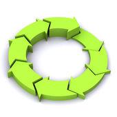 Green Process Arrow — Stock Photo