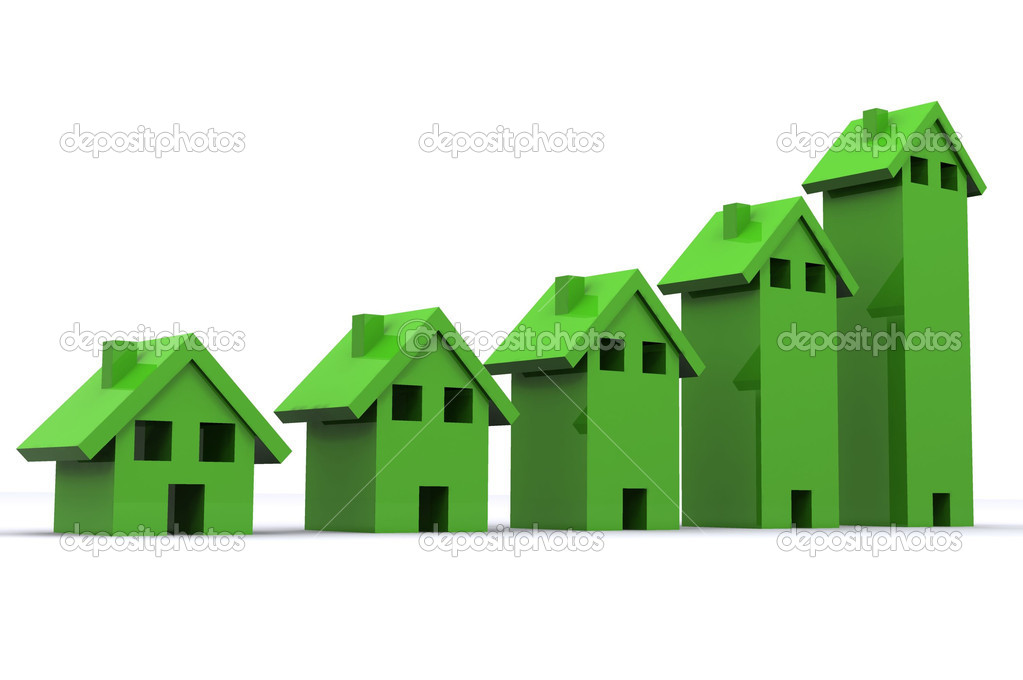 A Colourful 3d Rendered Housing Graph Illustration — Stock Photo #6803663
