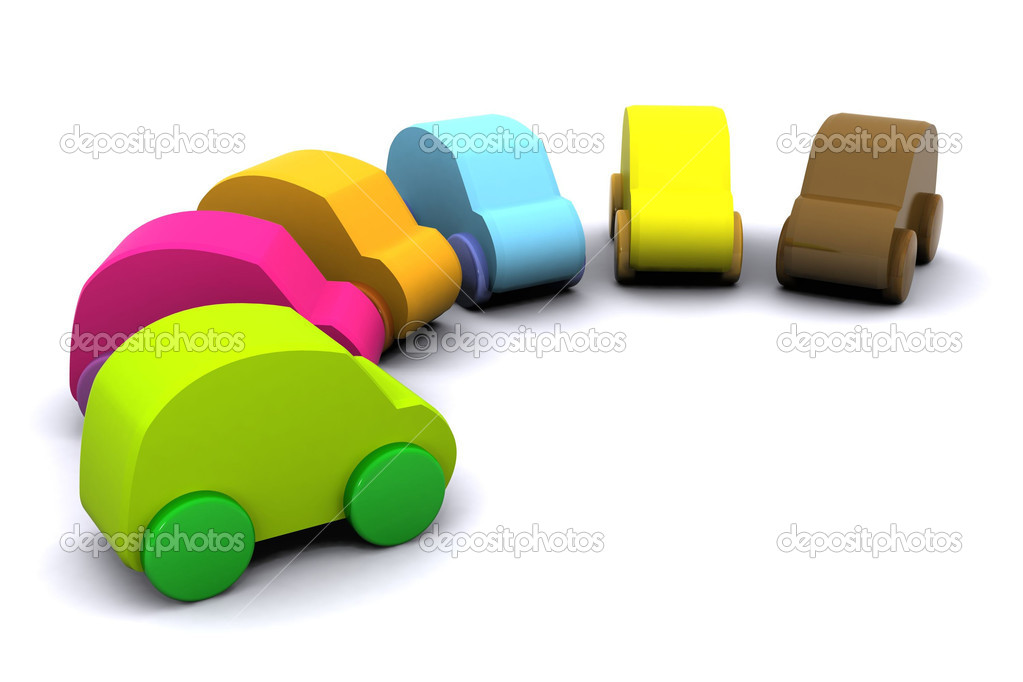 A Colourful 3d Rendered New Cars Illustration — Stock Photo #6803680