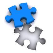 Jigsaw Teamwork — Stock Photo