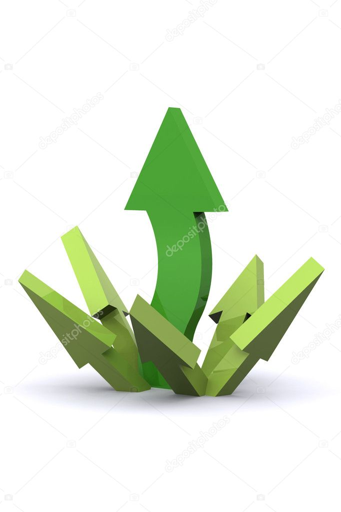 A Colourful 3d Rendered Success Arrows Illustration  Stock Photo #6837695