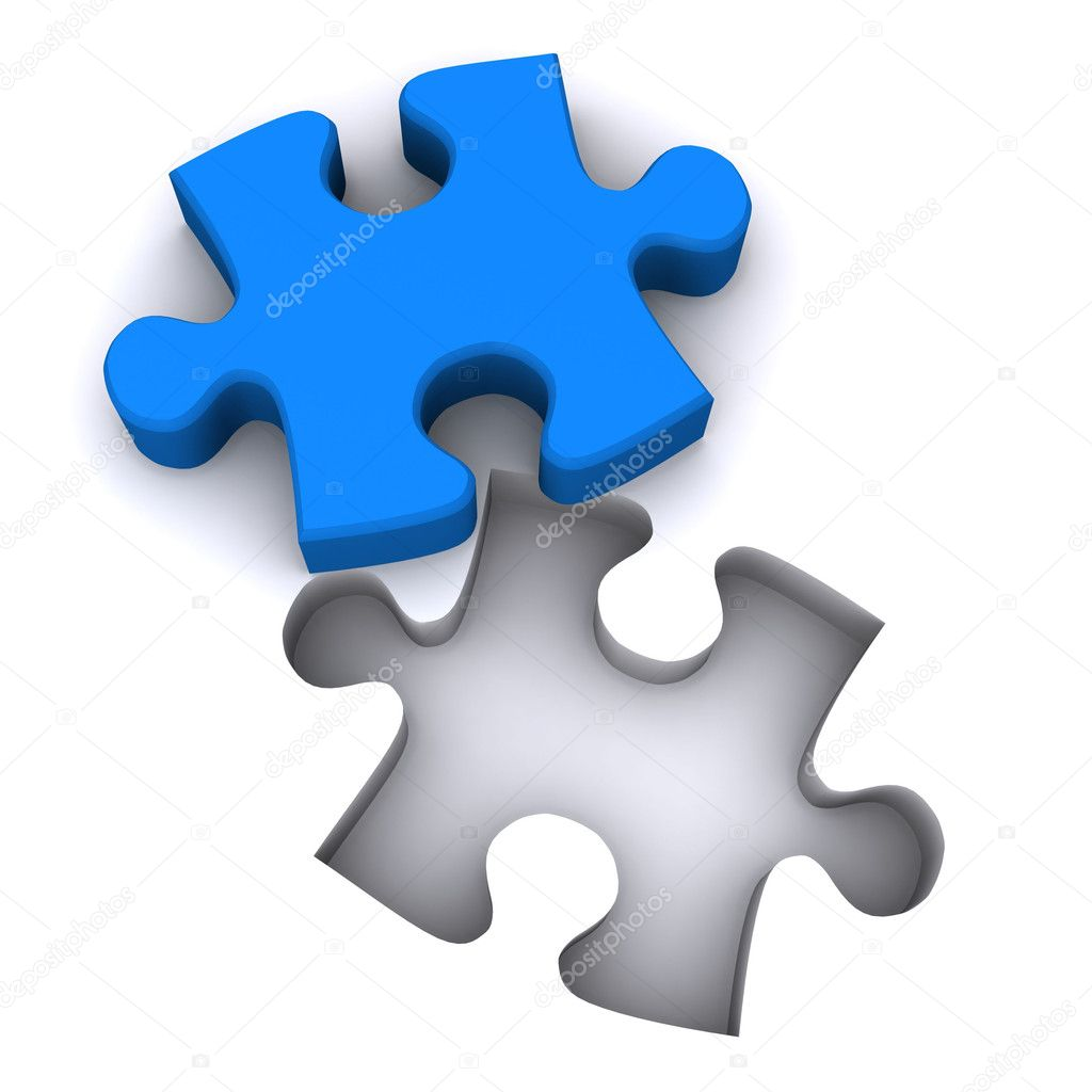 A Colourful 3d Rendered Jigsaw Teamwork Illustration  Stock Photo #6837748