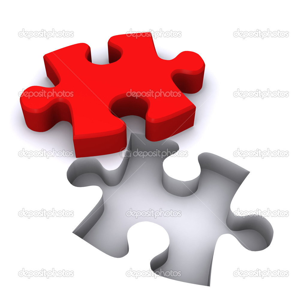 A Colourful 3d Rendered Teamwork Jigsaw Illustration  Stock Photo #6837842