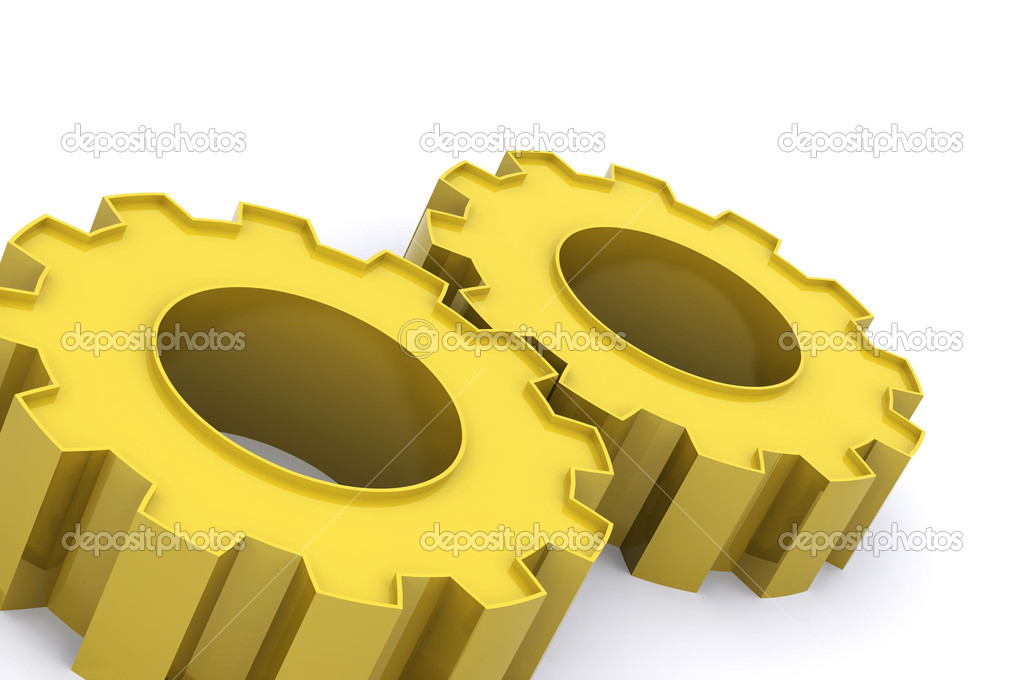A Colourful 3d Rendered Teamwork Cogs Concept Illustration — Stock Photo #6867056