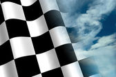 Chequered Flag — Stock Photo
