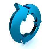 Blue Process Arrow — Stock Photo