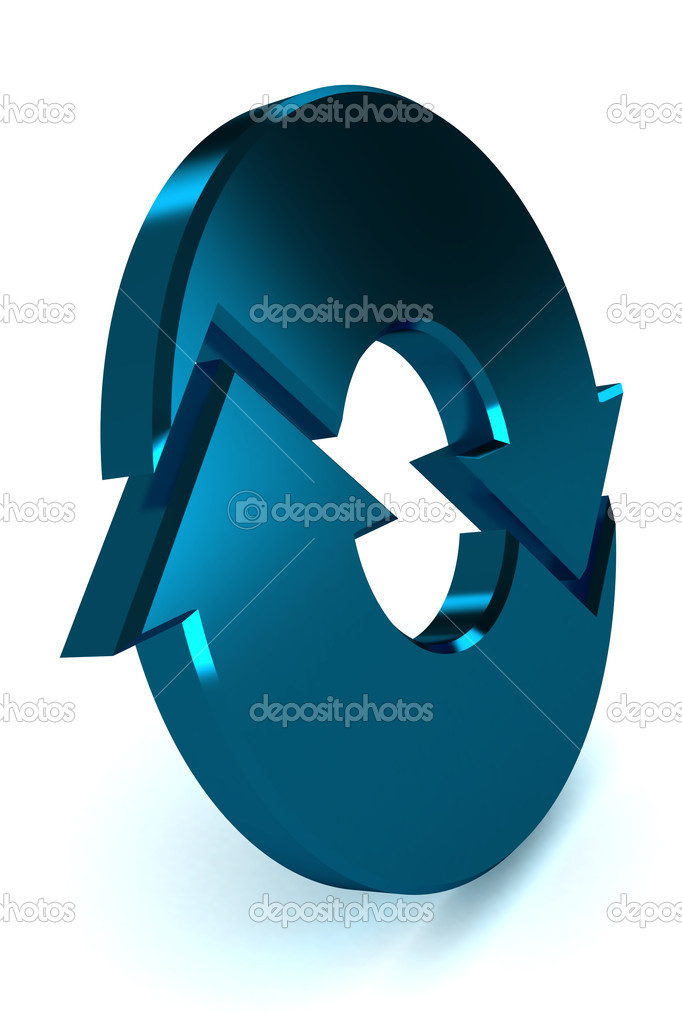 A Colourful 3d Rendered Blue Process Arrow Illustration — Stock Photo #7324511