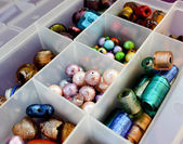 Colored beads to make jewelry — Stock Photo
