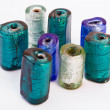 Stock Photo: Colored cylindrical stones