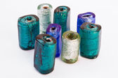 Colored cylindrical stones — Stockfoto