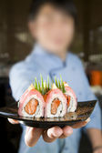Suši šéfkuchař — Stock fotografie