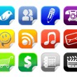 Social Media Sticker Icon — Imagen vectorial