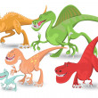 Carnivorous Dinosaurs Collection Set - Stock Vector