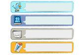 Doodle sociale media banners — Stockvector