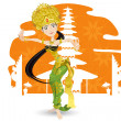Stock Vector: Balinese Dancer