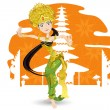 Balinese Dancer — Stock Vector