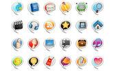 социальные медиа пузыря значок — Cтоковый вектор
