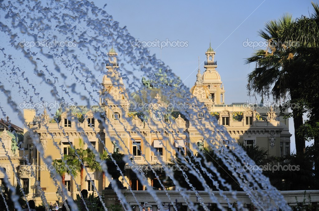 Famous Big casino and garden in montecarlo monaco — Stock Photo #6837209