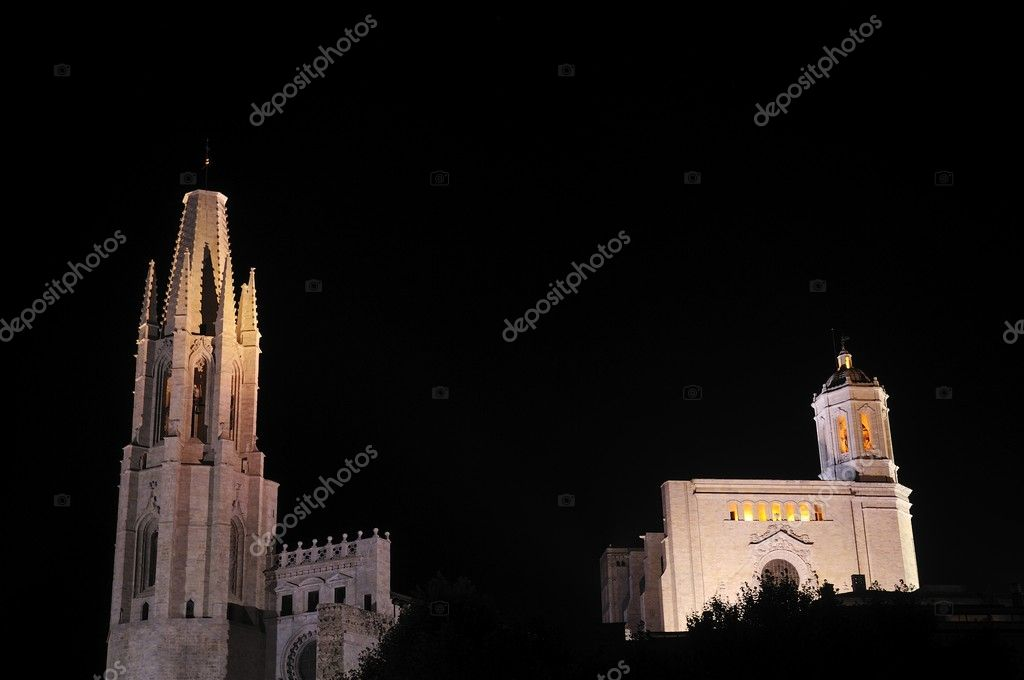 Santa Maria gothic catedral in Girona Catalonia Spain — Stock Photo #6837634