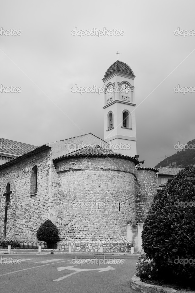 Stone church of Beaulieu Sur Mer in France — Stock Photo #6838047