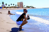 The girl on a beach — Stockfoto