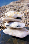 Simply white stones — Stock Photo