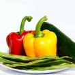 Vegetables in a plate — Foto de Stock