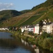 Town Zell at Mosel river in Germany - Stock Photo