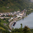Little town at the Mosel river, Germany — Stock Photo