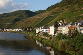 Town Zell at Mosel river in Germany — Fotografia Stock