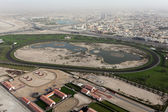 Aerial view of a Horse Race Track in Dubai — Stock Photo