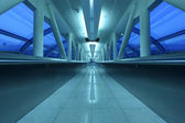 Airport gangway in Dubai — Stock Photo