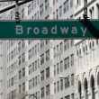 Broadway street sign in New York City — Stock Photo